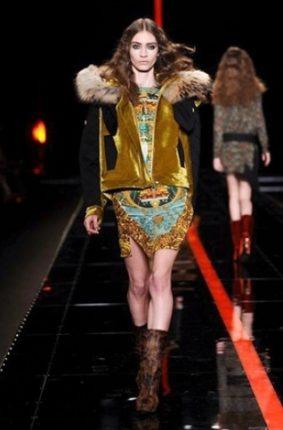 Just Cavalli collezione autunno inverno 2013 2014 giubotto pelliccia