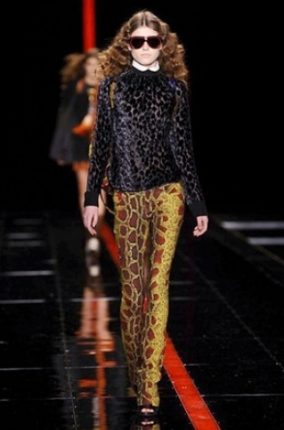 Just Cavalli collezione autunno inverno 2013 2014 vestiti leopardati