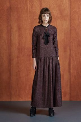 Long dress con fiocco Dixie autunno inverno 2017