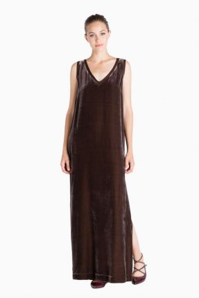 Long dress in velluto Twin Set Simona Barbieri autunno inverno 2017