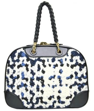 Louis Vuitton borsa Black Embroidered Bowling Bag
