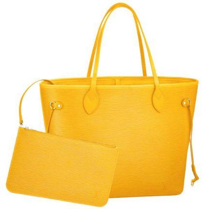 Louis Vuitton borsa neverfull epi gialla