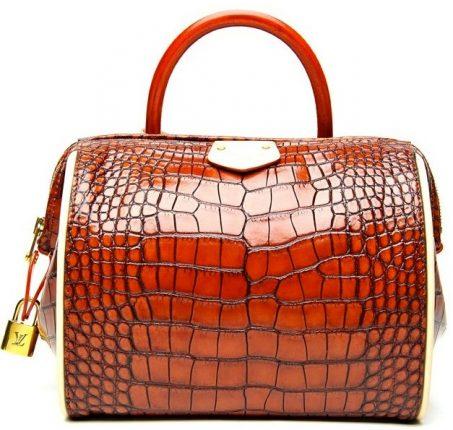 Louis Vuitton borsa Red Crocodile Doc BB Bag
