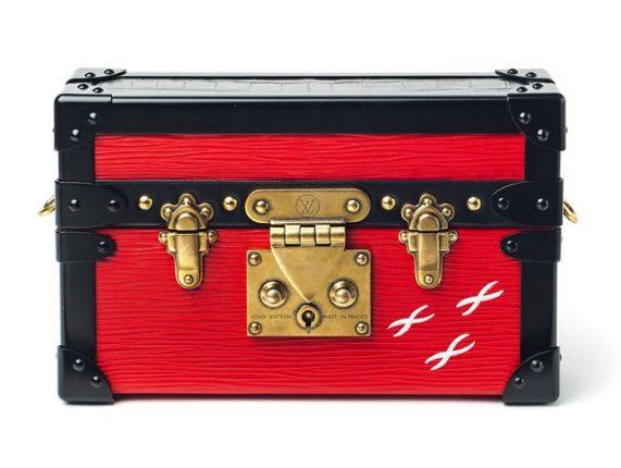 Louis Vuitton borsa Red Epi Petite Malle Bag