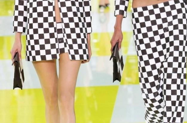 Louis Vuitton clutch in pelle a quadri