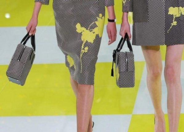 Louis Vuitton handbag bicolor con stampa