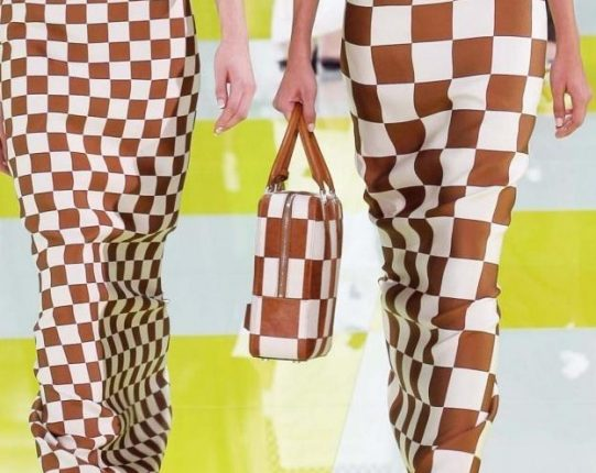 Louis Vuitton handbag in pelle a quadri