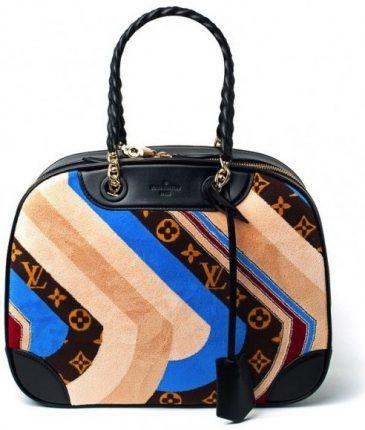 Louis Vuitton Multicolor Monogram Canvas Suede Bowling Bag