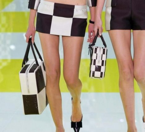Louis Vuitton shopper e handbag a quadri bicolor