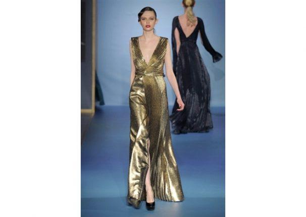 Luisa Beccaria collezione autunno inverno 2013 2014 abito oro