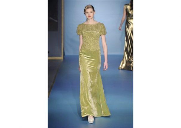 Luisa Beccaria collezione autunno inverno 2013 2014 abito verde