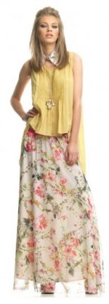 Lunga gonna a fiori Fornarina primavera estate 2013