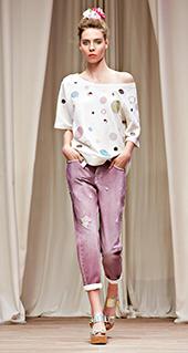 Maglia a pois Twin Set jeans primavera estate 2016