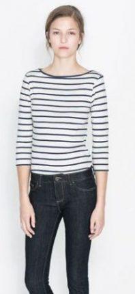 Maglia a righe Zara primavera estate 2014