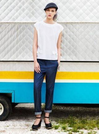 Maglia bianca e jeans Pennyblack primavera estate 2013