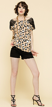 Maglia con stampa leopardata Artigli primavera estate