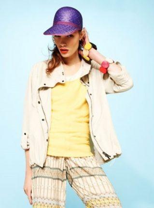 Maglia gialla e pantalone stampato Pennyblack primavera estate 2013
