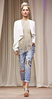 Maglietta con frange Twin Set jeans primavera estate 2016