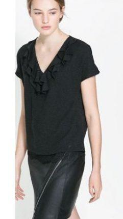 Maglietta con rouches Zara primavera estate 2014