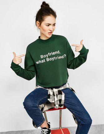 Maglietta con scritta Bershka autunno inverno 2017