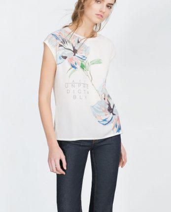 Maglietta fiori Zara primavera estate
