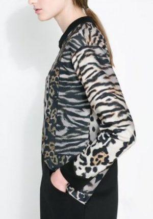 Maglietta leopardata Zara primavera estate 2014