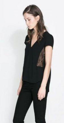 Maglietta pizzo Zara primavera estate 2014