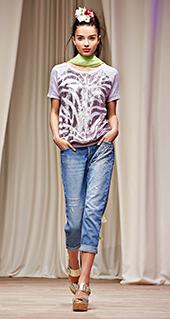 Maglietta stampata Twin Set jeans primavera estate 2016