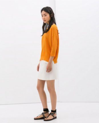 Maglione arancione Zara autunno inverno 2014 2015