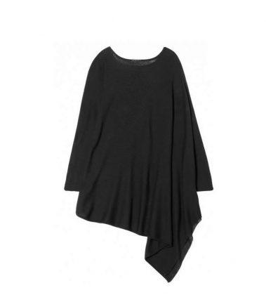 Maglione asimmetrico nero Sisley autunno inverno 2017