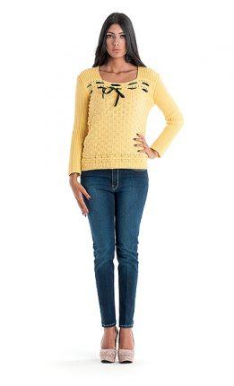 Maglione giallo Cannella autunno inverno 2015