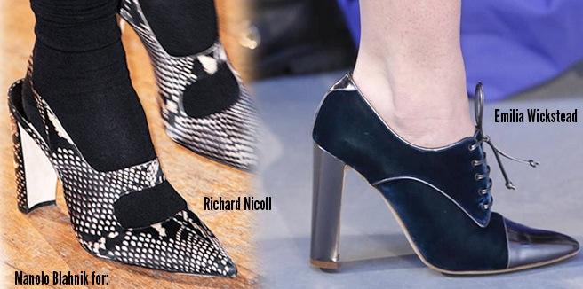 Manolo Blahnik scarpe autunno inverno 2014 2015