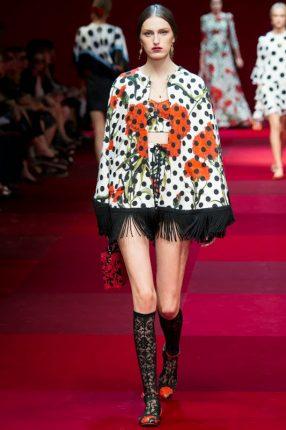 Mantellina Dolce & Gabbana primavera estate 2015