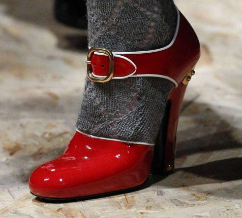 Mary Jane rosse Prada autunno inverno 2017