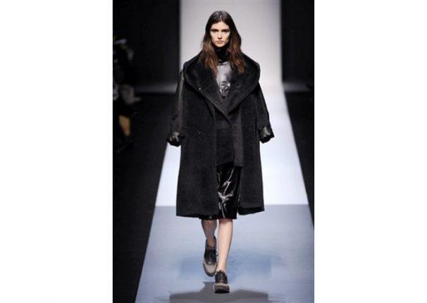 Max Mara collezione autunno inverno 2013 2014 pelliccia nera