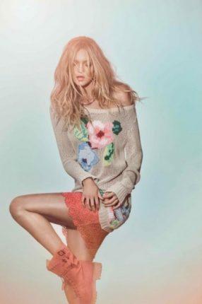 Maxi maglia con fiori di Twin Set Simona Barbieri