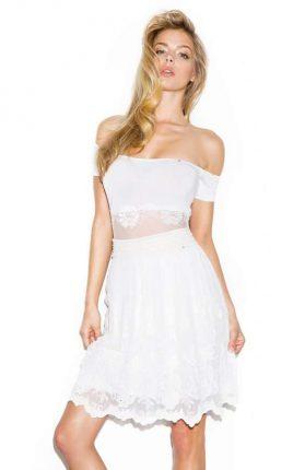 Mini abito bianco Guess
