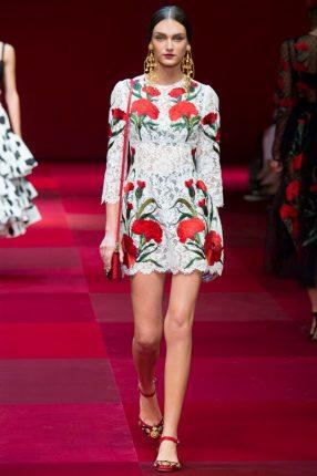 Mini abito Dolce & Gabbana primavera estate 2015