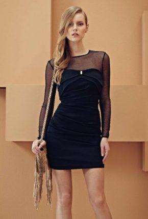 Mini abito nero Elisabetta Franchi primavera estate