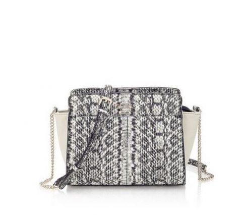 Mini bag in pitone grigio