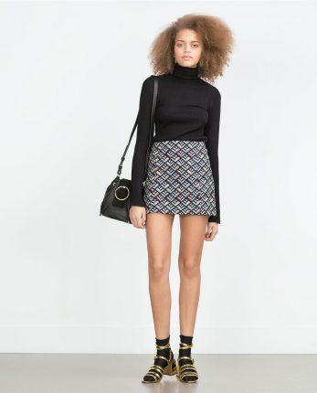 Mini gonna fantasia Zara primavera estate