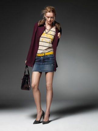 Mini gonna Jeans Liu Jo autunno inverno 2013 2014