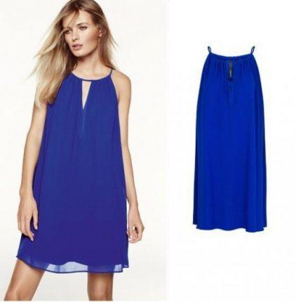 Minidress azzurro Mango primavera estate 2013
