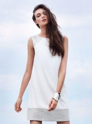 Minidress bianco e silver Pennyblack primavera estate 2013