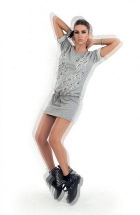 Minidress con applicazioni Denny Rose primavera estate 2014