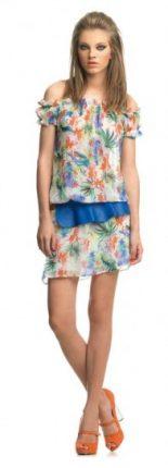 Minidress con fiori Fornarina primavera estate 2013