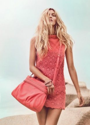 Minidress e borsa corallo Twin Set primavera estate 2013