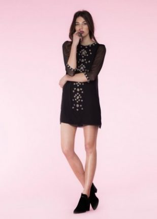 Minidress nero Hoss Intropia primavera estate 2014