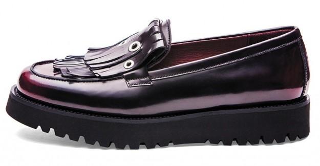 Mocassini burgundy Frau scarpe autunno inverno 2014 2015