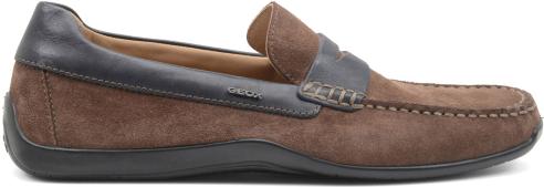 Mocassino camoscio Geox scarpe autunno inverno